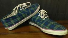 Vintage Jantzen Low Canvas 70's 80's Plaid Sneakers Womans Shoes Size 6/7-EUC