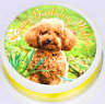 "Personalised Cockapoo Cake Topper - 7.5"" Round Edible Icing -  Cake Decoration"