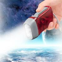 Super Bright Hand Crank 3 LED Light Dynamo Flashlight Hiking Camping Torch Lamp