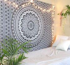 Schwarz Ombre Twin Mandala Überwurf Wandbehang 100% Baumwolle Yoga Deko Tuch