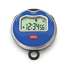MIO 0060USBLK2 Times 1 Blue Stopwatch all Purpose Stopwatch Pedometer Blue face