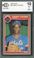 1985 Fleer #82 Dwight Gooden Rookie Card BGS BCCG 10 Mint+