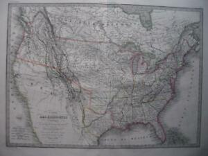 1838 - LAPIE - Large map USA with the REPUBLIC OF TEXAS