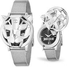 Orologio Just Cavalli Tiger R7251561503 acciaio donna silver fondo nero moda