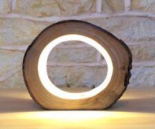 lampe led en bois lampe fait main lampe rustique lampe moderne cadeau maison