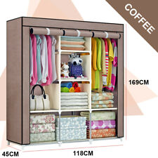 Large Portable Clothes Closet Wardrobe Storage Cabinet Organizer with Shelves