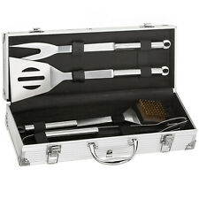 BBQ Barbecue Set Essential Grill Tools - 5-pcs Utensil Cutlery Cooking Tool Case