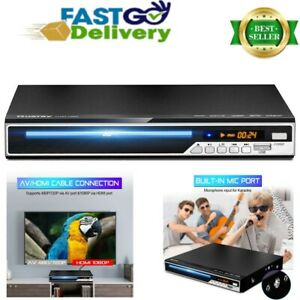 Pro DVD Player 3 in 1 Compact Recorded CD TV HDMI Home Theater 1080p USB Mic UK