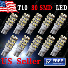 10x Super White T10 30SMD LED Interior Dome License Light bulb W5W 2825 168 194