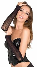 black SPIDERWEB arm warmers womens halloween costume