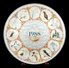 Wedgwood - Calendar Plate - Sea Birds - 1988 - New Condition