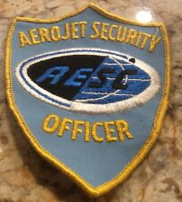 Aerojet Security Officer Patch