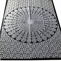 Tagesdecke Dekotuch Mandala  Schwarz Weiss Bettüberwurf Baumwolle Cotton 140x200