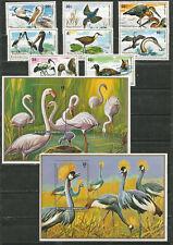 RUANDA Scott# 652-661 Aves pájaros 1975