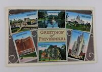 Postcard Greetings of Providence Rhode Island Multiview Hotel Memorial Cottage