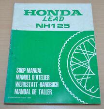 Honda Lead NH 125 Motorroller Scooter 1983 83 Werkstatthandbuch Motorrad
