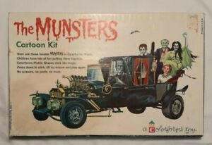 The Munsters 1965 Kayro-Vue Colorforms Cartoon Kit Complete