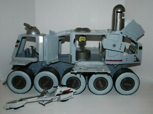 Star Wars Clone Wars Turbo Tank Juggernaut Vehicle Hasbro 2008 with Speeder