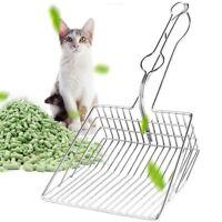 Metal Cat Litter Scoop Hollow Pet Toilet Scooper with Long Handle Cat Supplies