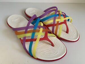CROCS Women's 'Huarache' Multicoloured Flip Flops UK 5