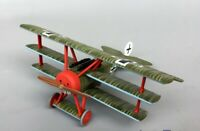 1/48 Scale Fokker Dr.1 Triplane Aircraft Assembled Painted Diecast Metal Model