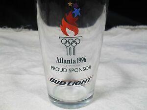 Atlanta 1996 Olympics Commemorative Bud Light Glass