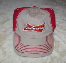 Budweiser Logo Ball Cap Adjustable Sizing Band Fits All