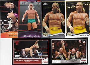 TNA TOPPS WWE FROM AUSTIN TEXAS 6 BILLY GUN WRESTLING CARDS A NICE MIX