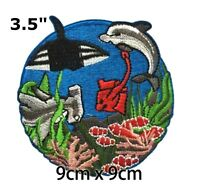 "2/"" Hello kitty florida dolphin state of usa fabric applique iron on character"