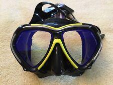 New ListingTusa Paragon Mask - Black Yellow - Scuba Diving Snorkel Swim Dive Snorkeling
