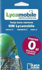 Lycamobile SIM Karte für Polen Trio-SIM