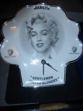 Marilyn Monroe Shamrock Plate-Clock-Very Unique ! Must See!