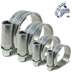 JUBILEE® HOSE CLIPS / CLAMPS - MILD STEEL -UK- Pack Qty: 1, 4, 5, 8, 10, 20, 25