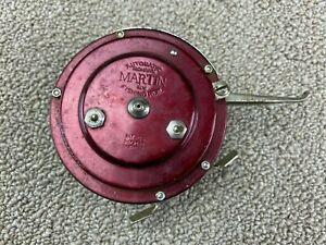 Automatic Mohawk Martin NY Fishing Reel Made in USA Fly Red Martin Mohawk