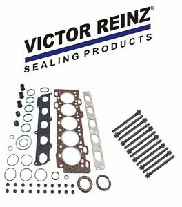 Victor Reinz Head Gasket Set w/ 12-Head Bolts For Volvo S40 & V50 2.4 NON-Turbo
