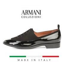 $654 Giorgio Armani Runway Black Lace-ups asual Shoes 39 US 9 Patent Leather