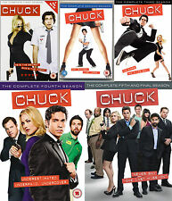 Chuck Complete Collection Series Season 1 2 3 4 - 5 All Episodes UK Rel R2 DVD