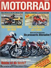 Motorrad 15/82 1982 Michel BMW R 100 Laverda RGS 1000 Yamaha RX 80 CX500 CB1100R