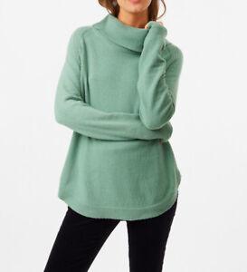 White Stuff Shore Curve Hem Jumper 'Twilight Green' Size 10 Worn Twice - Mint