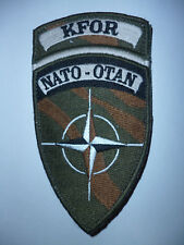 FRENCH ARMY / FOREIGN LEGION  NATO - OTAN KFOR KOSOVO FORCE SUBDUED ARM PATCH.