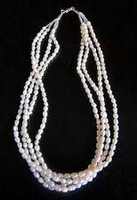 Collar de joyería con perlas de bañado en plata