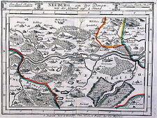 Antique map, Neuburg an der Donau