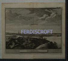 1727 Engraving View of Montrose , Scotland -Les Delices de la Grand Bretagne