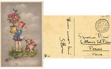 GUERRA DI SPAGNA Cartolina DIC. 1937 ANNULLO UFFICIO POSTALE SPECIALE 10 P.M.