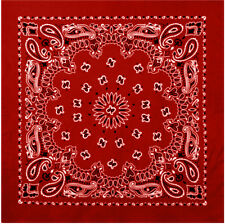 Rothco Trainmen Paisley Bandanas 27 Inch Red / White One Size