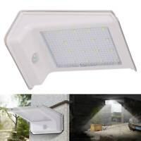 LED Solar Powered PIR Motion Sensor Security Wall Light Outdoor Gate Garden Lamp