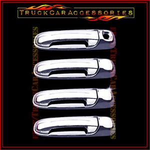 For JEEP Liberty 2002 2003 2004 2005 2006 2007 Chrome 4 Door Handle Covers w/o P