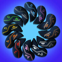12pcs Colorful Neoprene Golf Iron Covers Fit Mizuno Titleist Ping Head cover Set