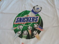SNICKERS CANDY T SHIRT UNUSED NEW Soccer FRANCE 98 WORLD CUP  free shipping