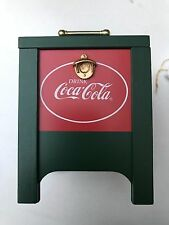 "Coca-Cola Coke ""My Favorite Things"" Wooden Music Box Willitts Galleries 1990"